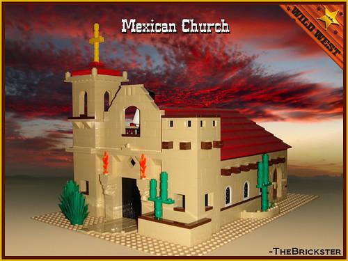 LEGO WesternOutlaw Mexican church