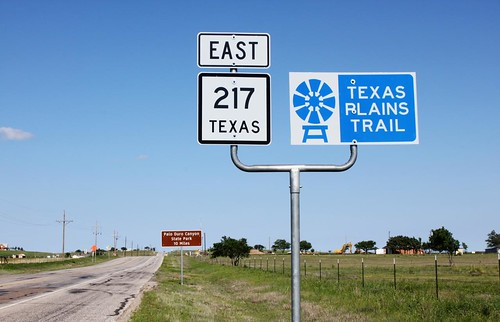 Texas Plains Trail and Palo Duro signs