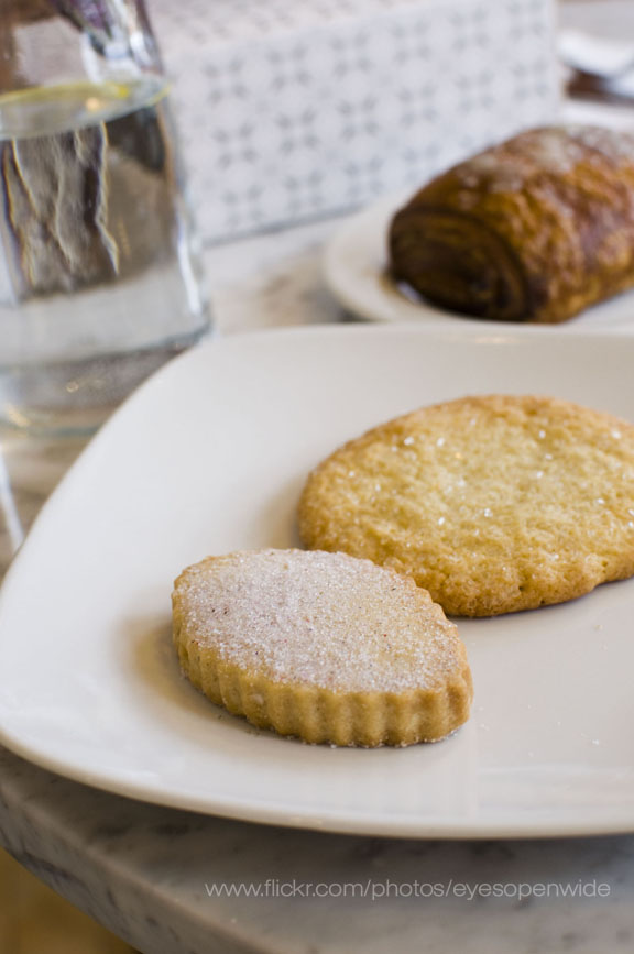 french lavender butter sable and lime ginger butter cookie