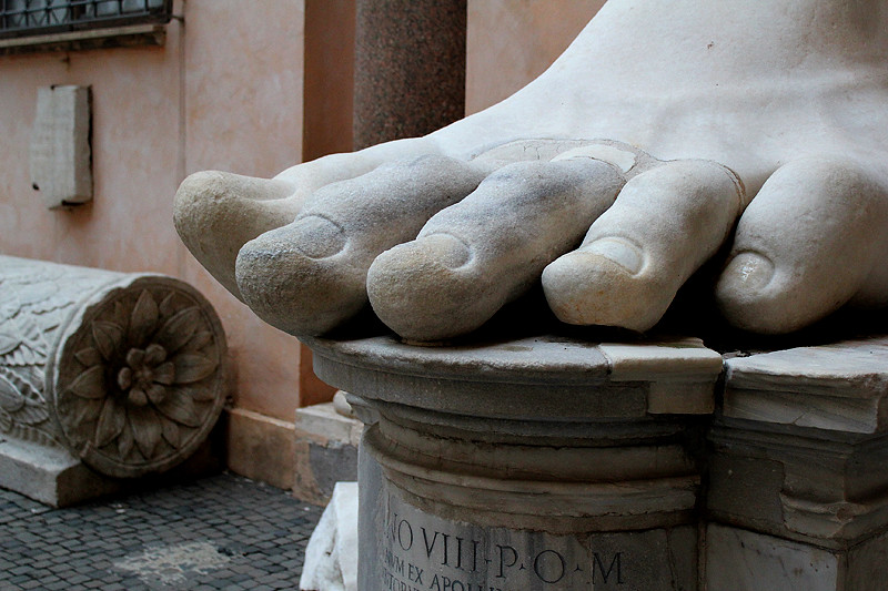 A fragment of The Colossus of Constantine - Capitoline Museum
