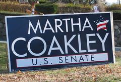 Coakley Senate Sign