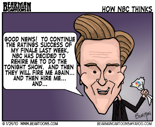 1 24 10 Bearman Cartoon Conan O'Brien