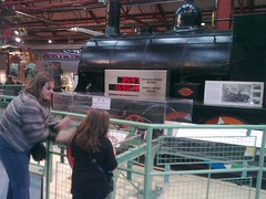 Poppy moving a locomotive at Enginuity!