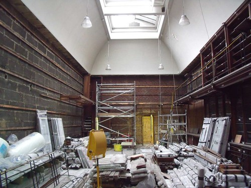 March 2010 - The Antiquaries Library partially dismantled