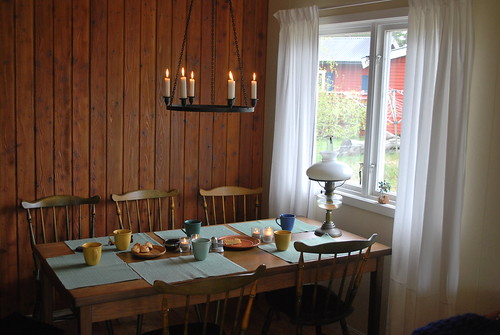 Fika in old summerhouse