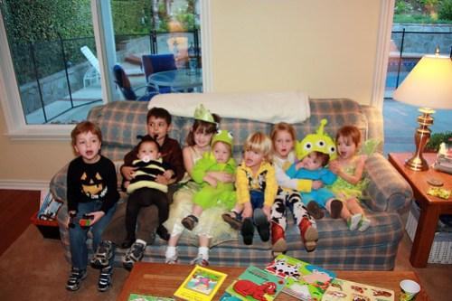 Transformer, bee, Indiana Jones, Princess, Kermit the Frog, Woody, Jessie, Alien, Tinkerbell