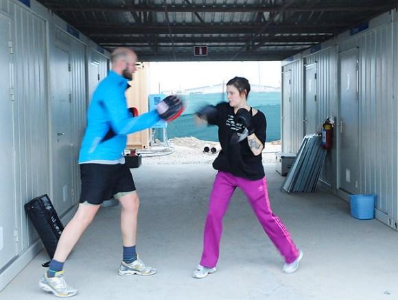 Boxning med Sandra