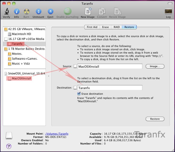 Make Bootable USB [OSx86, Snow Leopard]