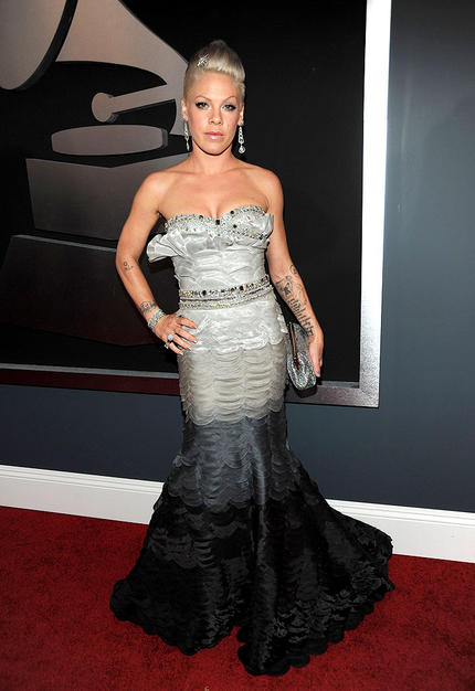 Pink arrives at the 52nd Annual GRAMMY Awards held at Staples Ce