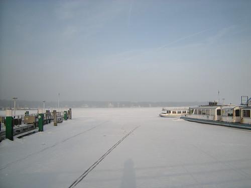 Februarmorgen über dem Großen Wannsee