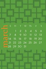 March iPhone Calendar Wallpaper
