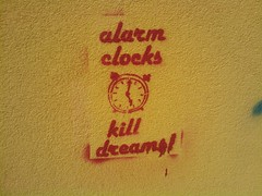 alarm clocks kill dreams
