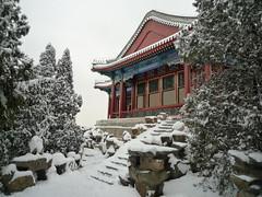 Sommerpalast im Schnee