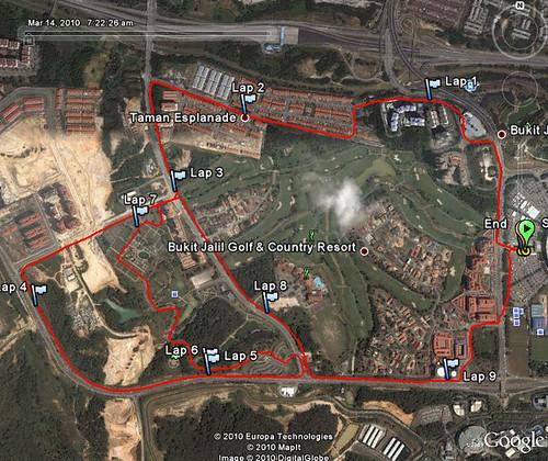 100314 Bareno Run - 10K Route