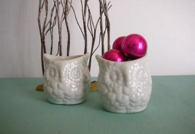 ceramic owl set Sweetshorn Vintage