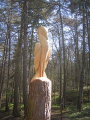 Errington Woods Heron Carving