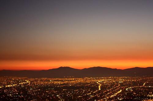 Atardecer en Santiago (by morrissey)