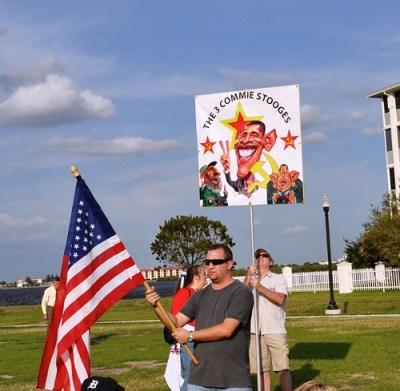 Punta Gorda Tea Party - The 3 Commie Stooges, April 15, 2010