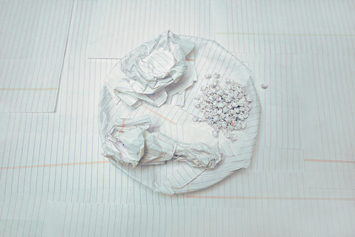 crumpled paper food by Laser Bread