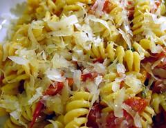 pasta with cherry tomatoes, fresh sage & Pecor...