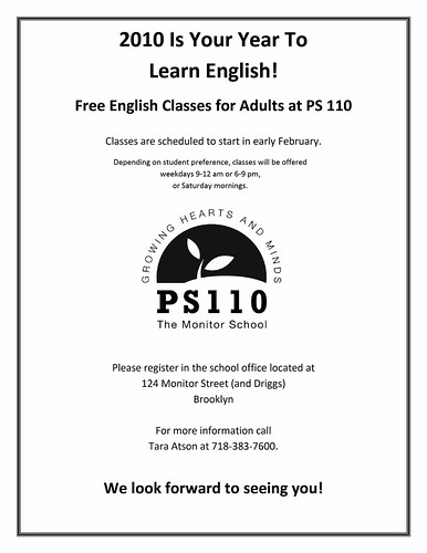 PS 110 ESL Classes