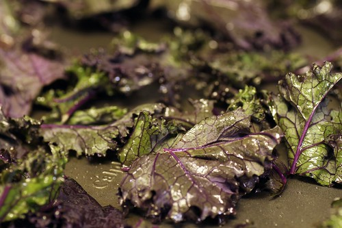 kale tossed with olive oil