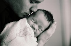 A father and baby