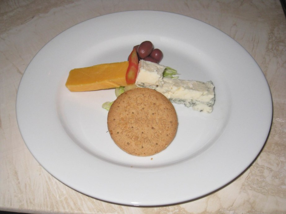 A cheese plate completed our first lunch.