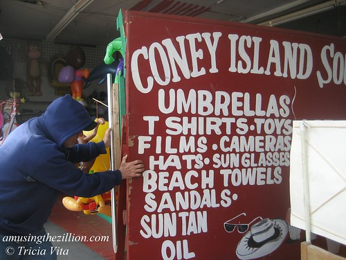Coney Island Souvenir Shop on the Boardwalk. Photo © Tricia Vita//me-myself-i via flickr
