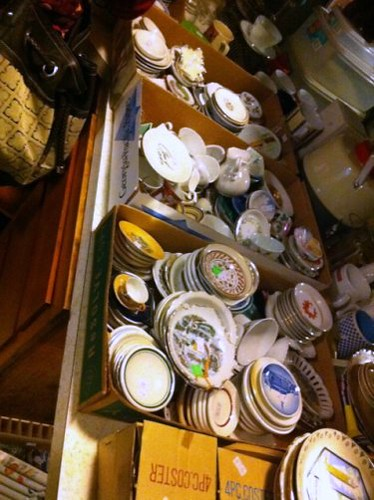 Plates of a hoarder