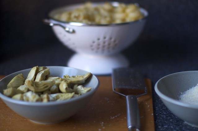 artichokes, thimbles, cheese