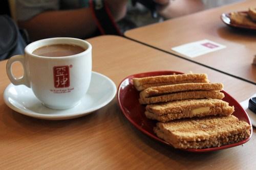 Yin Yang and Toast at Ya Kun Kaya Toast
