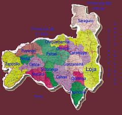 Mapa de la Provincia de Loja