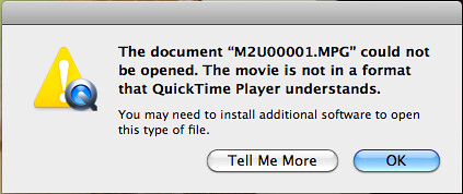 Quicktime error message