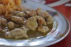 pork in chile verde, Chacala