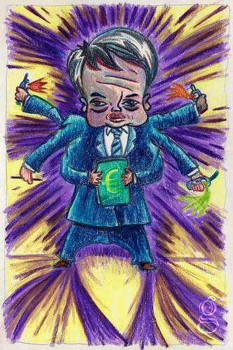 Didier Reynders sauvera-t-il la Belgique ? - Caricature par Gilderic