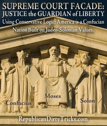 Supreme Court Moses Confucius Solon Image