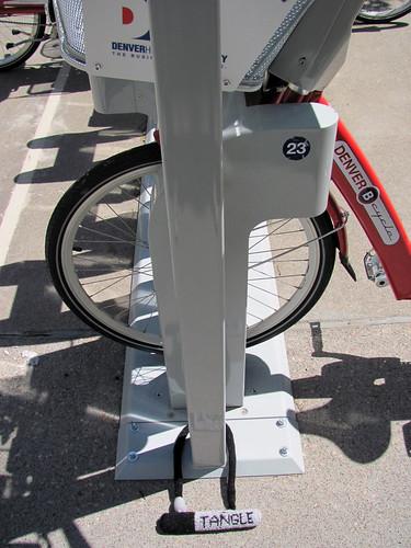 Bike Lock Yarnbomb #4 - Denver