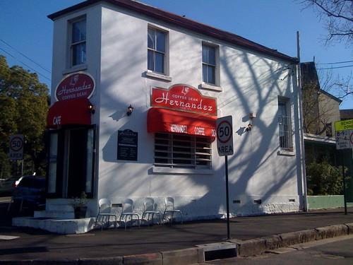 Hernandez coffee dean cafe, Glebe