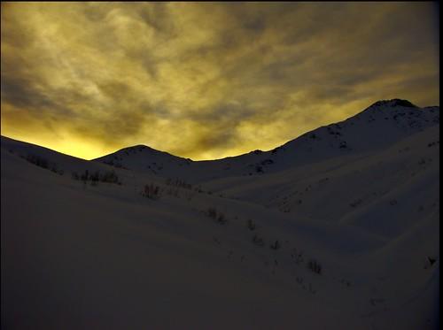 awesome January light in Alaska