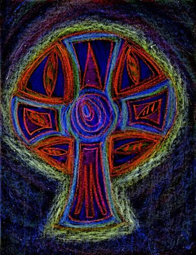 Neon Celtic Cross