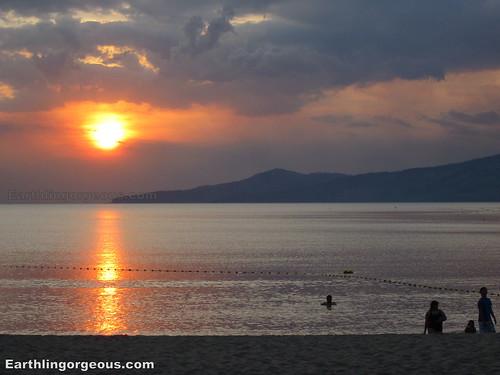 view of sunset at Anvaya Cove Bataan