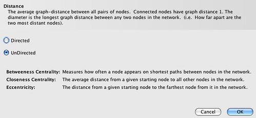 Gephi Network diameter stats