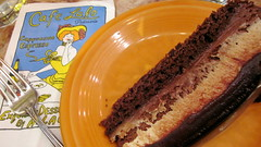 Chocolate Peanut Butter Mousse Cake - Cafe Lalo