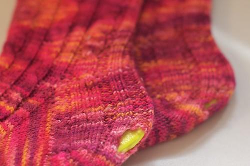Original Cable Rib Socks: holes