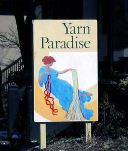 Yarn Paradise Sign