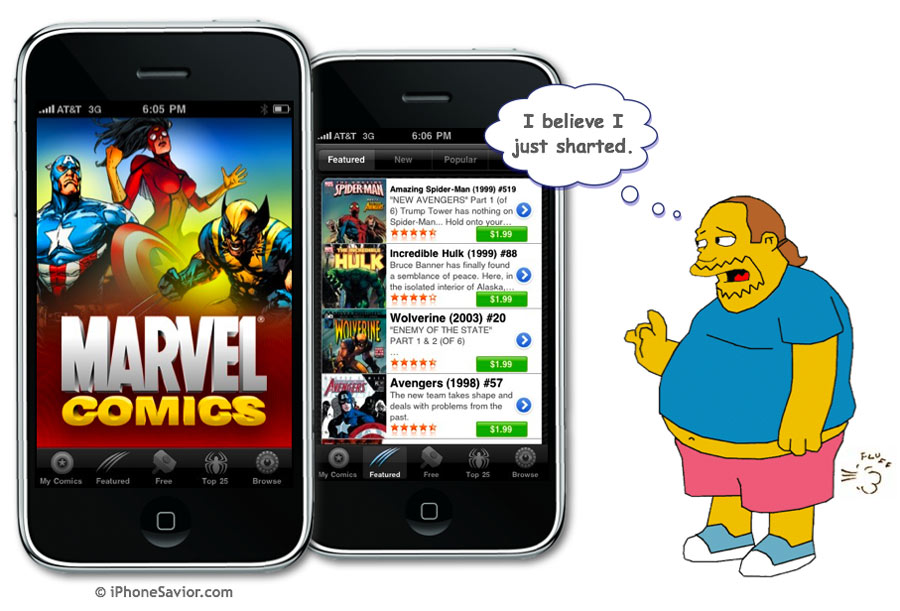 Marvel Comics iPhone & iPad App
