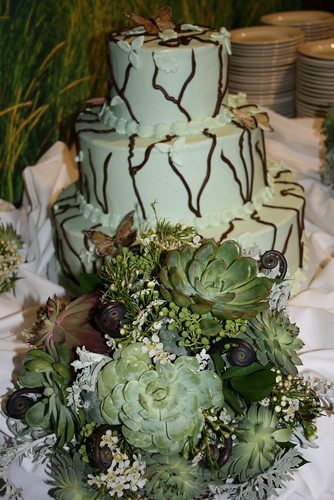 Wedding Weekend - Reception - Bouquet and Cake (By Deanna Felton)