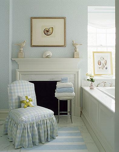 Sandra Morgan interiors chair in bath