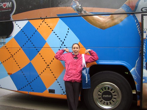 With the Garmin bus